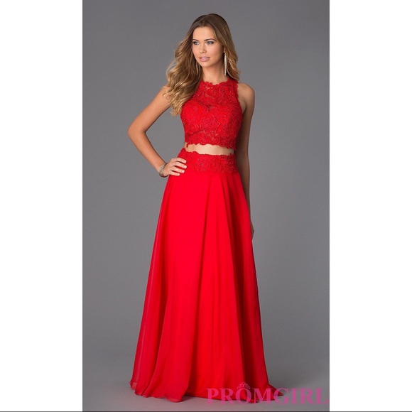 9dafd9f6356d Dave & Johnny Dresses | Dave And Johnny Red 2 Piece Prom Dress ...